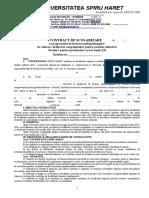 Contract Scolarizare 2015-2016