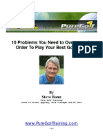 Golf Training - 10 Problems You Need to Overcome