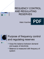 Frequency Control and Regulating Reserves