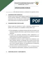ESPECIFICACIONES TECNICAS PUCARA