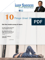 10 Things Great Sleeper Do