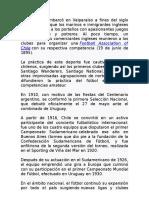 Historia Del Futbol Chileno