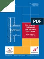L' Isolation Thermique Des Façades Verticales - Guide Pratique Pour Les Architectes _ in French