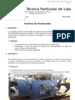 Informe de Gp 2.2 Perforacion