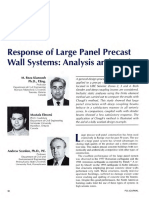 Response of Large Panel Precast Wall Systems - Analysis and Design