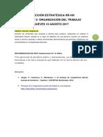 Clase Nº 2 - Organización Trabajo - 10 Agosto - D E RRHH