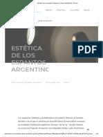 Estética de Los Espantos Argentinos _ Silvia Schwarzböck _ Bunker