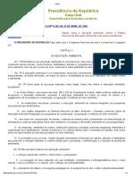 LEI FEDERAL Nº 9795 de 27 de ABRIL de 1999 - Política Nacional de Educação Ambiental