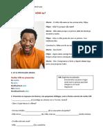 Ficha de Trabalho Verbo Vir e Preposições