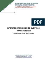 Informe de Transferencia Ocros
