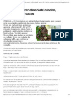 Saiba Como Fazer Chocolate Caseiro, Mel e Polpa de Cacau _ UIPI – Notícias, Entretenimento,Cinema, Esporte e Vídeos