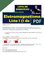 Eletromagnetismo Lista Exercícios