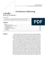 Management of Seizures Following a Stroke