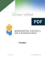 Executive Position Profile-MCF-President