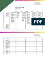 STEM Learning - NE707 - Teaching Practical Biology - Progression Planning Grid