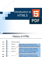 1. Introduction to HTML5
