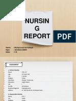 Nursing reports