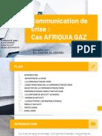 Communication de Crise (Cas d'Afriquia Gaz)