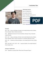 Curriculum Vitae Jose Hidasi Neto português