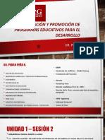 Formulacion y Evaluacion de Programas Eductivos Sesion 2 Sabado 27-10 Pedro Peña
