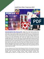 Link Alternatif Dewa Poker Terpercaya 2019