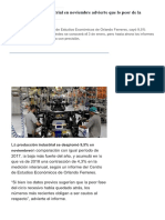 Nuevo Derrumbe Industrial en Noviembre ..