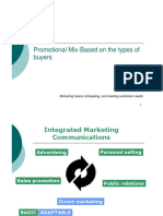 Promotinal Mix Based Types of Buyers