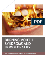 Burning Mouth Syndrome and Homoeopathy