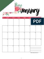 2019 Floral Portrait Calendar
