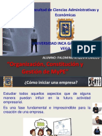 Organizaciómn,Constitución y Gestión de MyPE