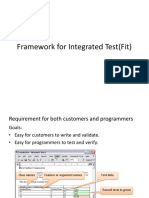 Framework for Integrated Test