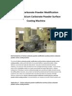 Calcium Carbonate Powder Modification Machine
