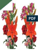 Flores Sublimado