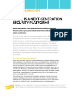What is a Next Generation Security Platform