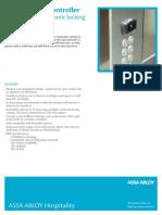 Visionline Elevator Controller Product Sheet En