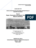 Guidelines for Repair, Retrofitting, And Restoration of Mansory Buildings