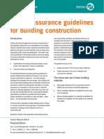 Quality Assurance Guide Line