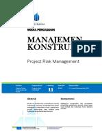 Modul 11 - Risk Management