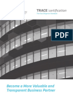 TRACEcertification Brochure - Portable Due Diligence for SMEs