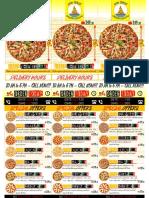 High Sails Cheesy Pizzeria Flyers