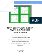 Npp Safety Automation Systems Analysis State of the Art