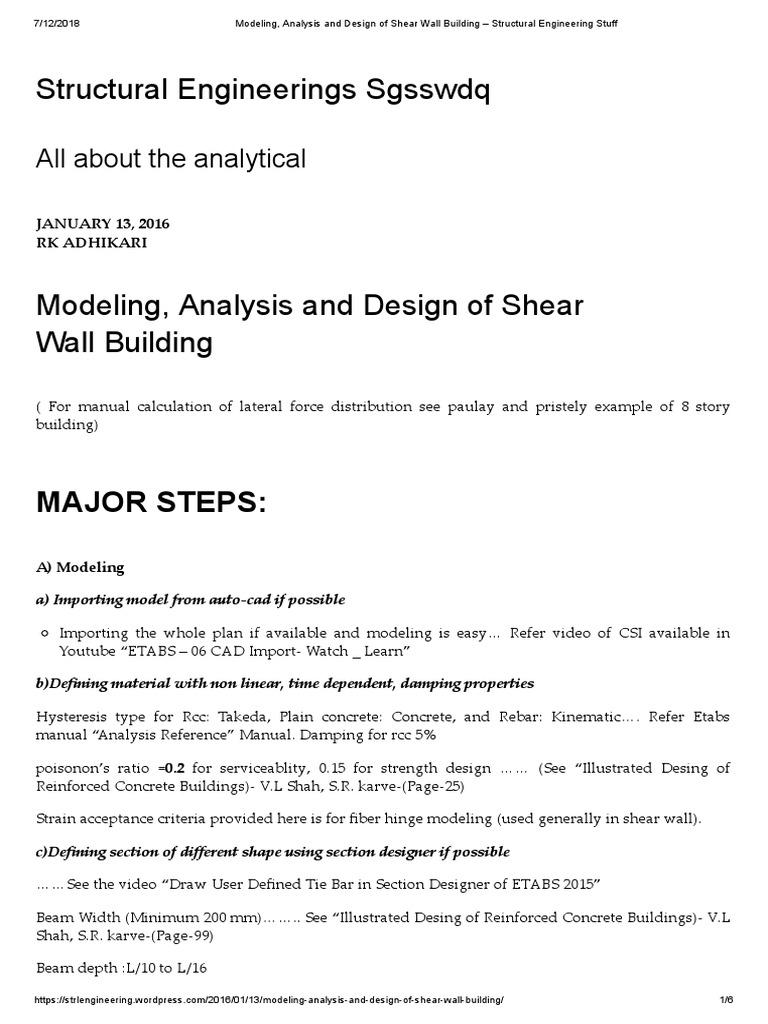 Analysis - Etabssds | Reinforced Concrete | Beam (Structure)