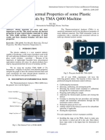 Study the Thermal Properties of some Plastic Materials by TMA Q400 Machine