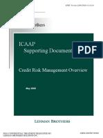 Lehman Brothers ICAAP
