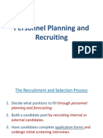 Personnel Planning and Rcruiting