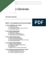 Plan Du Cours - Géologie générale
