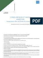 Fonds Maritain BNU Inventaire V2