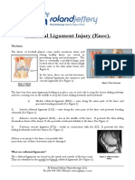 Collateral Ligament Injury Knee