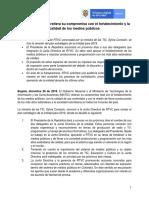 El Gobierno de Colombia busca fortalecer medios públicos y calidad de contenidos
