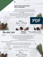 Menu Navidad 2018 Los Olmos